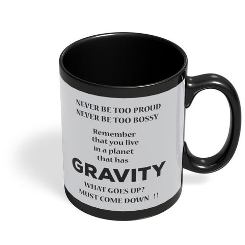 Gravity Black Coffee Mug Online India