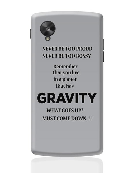 Gravity Google Nexus 5 Covers Cases Online India