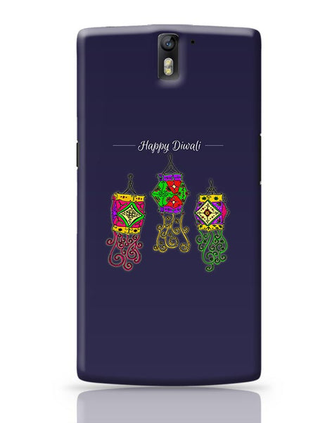 Hand Drawn Decorative Colored Lanterns OnePlus One Covers Cases Online India