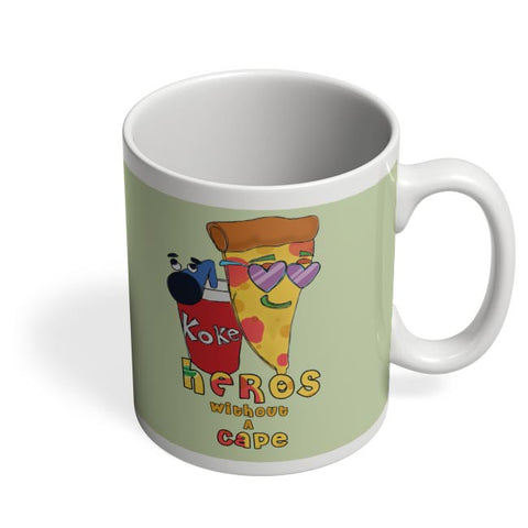Food, Pizza, Coke, Fastfood Coffee Mug Online India