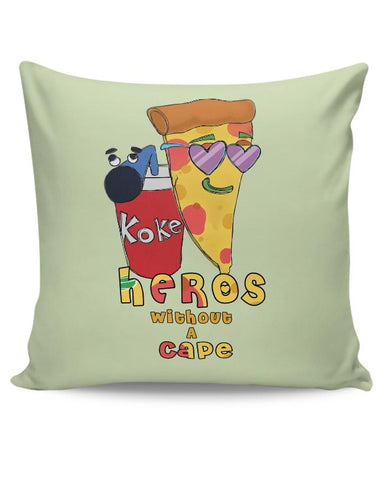 Food, Pizza, Coke, Fastfood Cushion Cover Online India