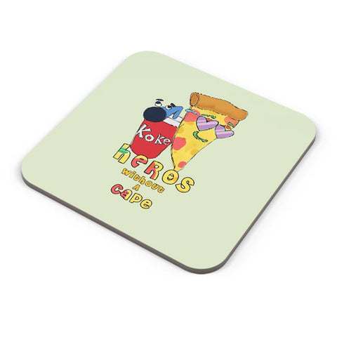 Food, Pizza, Coke, Fastfood Coaster Online India