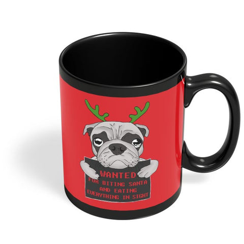 The Pug Life Black Coffee Mug Online India