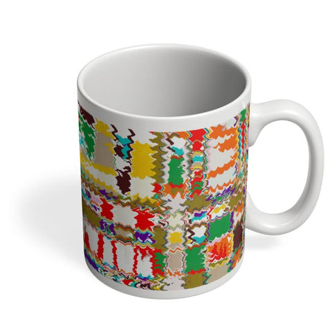 Distorted Check Coffee Mug Online India