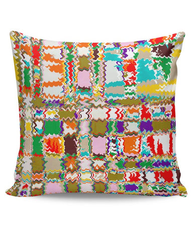 Distorted Check Cushion Cover Online India