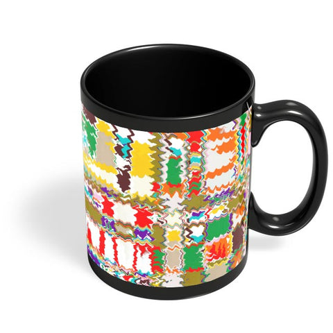 Distorted Check Black Coffee Mug Online India