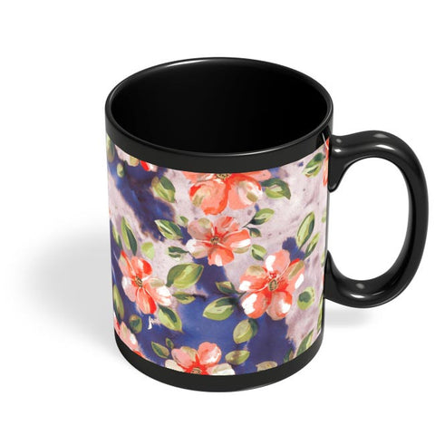 Washed Out Floral Black Coffee Mug Online India