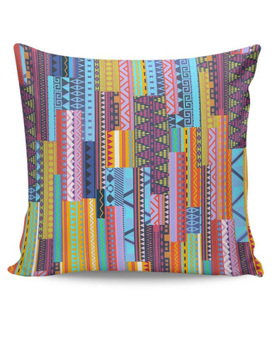 Irregular Aztec Blocks Cushion Cover Online India