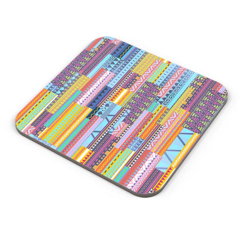 Irregular Aztec Blocks Coaster Online India