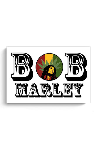 Bob, Bob Marley, Cannabis Leaf, Ganja, Music, Rock Poster Online India