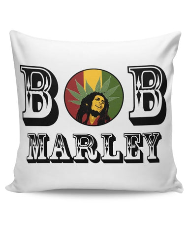 Bob, Bob Marley, Cannabis Leaf, Ganja, Music, Rock Cushion Cover Online India