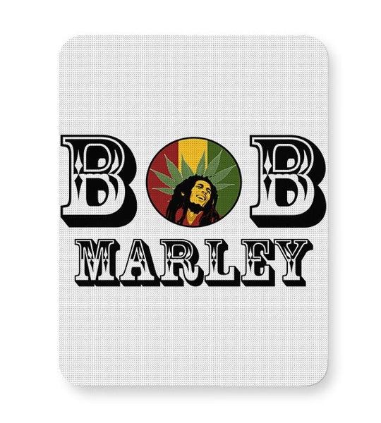 Bob, Bob Marley, Cannabis Leaf, Ganja, Music, Rock Mousepad Online India