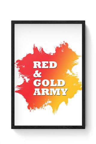 Red And Gold Army East Bengal FC Framed Poster Online India