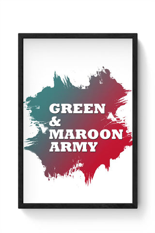 Green & Maroon Army Mohun Bagan Framed Poster Online India