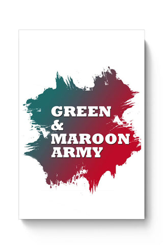 Green & Maroon Army Mohun Bagan Poster Online India