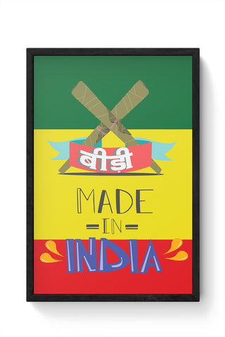 Indian Bidi  Framed Poster Online India