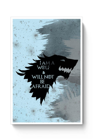 I'm a wolf and will not be afraid  Poster Online India