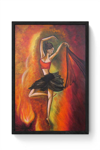 Original Dance Painting, 100% Handcrafted,Acrylic On Canvas Framed Poster Online India