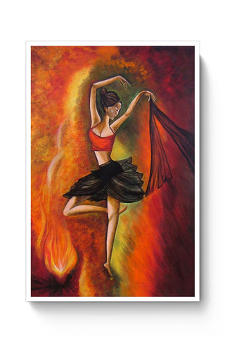Original Dance Painting, 100% Handcrafted,Acrylic On Canvas Poster Online India