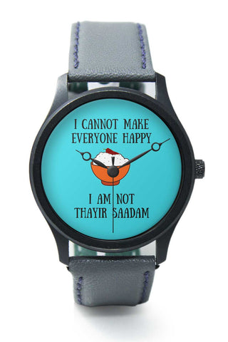 Happiness = Thayir Saadam Premium Wrist Watch