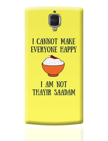 Happiness = Thayir Saadam OnePlus 3 Covers Cases Online India