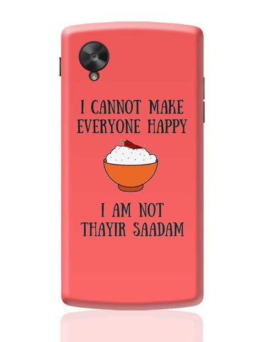 Happiness = Thayir Saadam Google Nexus 5 Covers Cases Online India