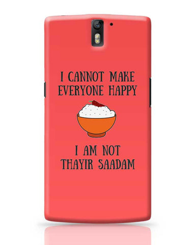 Happiness = Thayir Saadam OnePlus One Covers Cases Online India