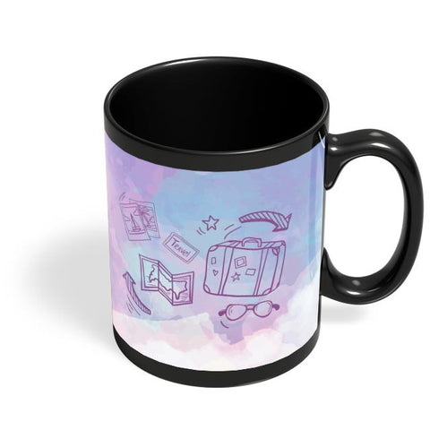 Travel for the hungry Soul Black Coffee Mug Online India