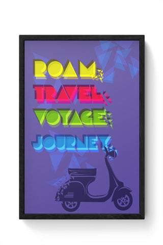 Psychedelic Travel  Framed Poster Online India