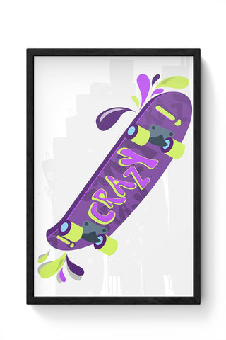 Skate down in bright colors! Framed Poster Online India