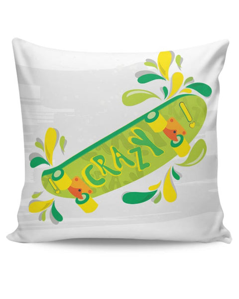 Skate down in bright colors! Cushion Cover Online India