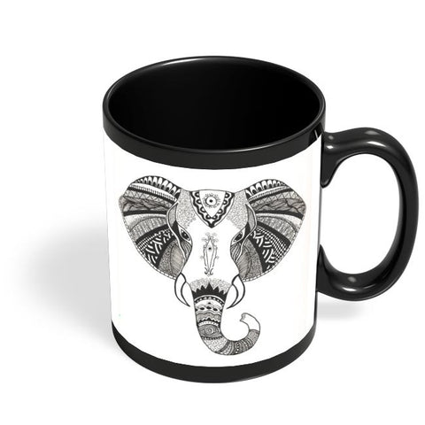 The Magnificent Pachyderm Black Coffee Mug Online India