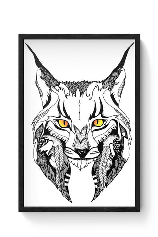 Lynx with the coolest eyes Framed Poster Online India
