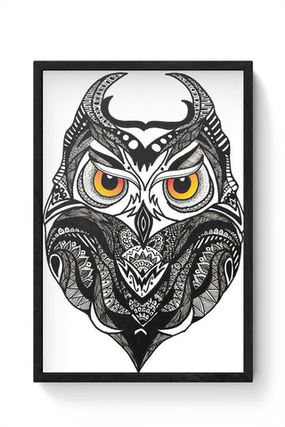 Owl Nightwatcher Framed Poster Online India