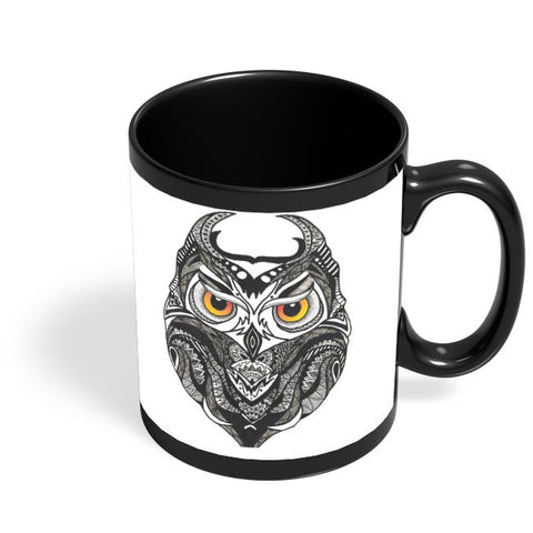 Owl Nightwatcher Black Coffee Mug Online India