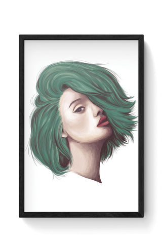 Green Hair Framed Poster Online India