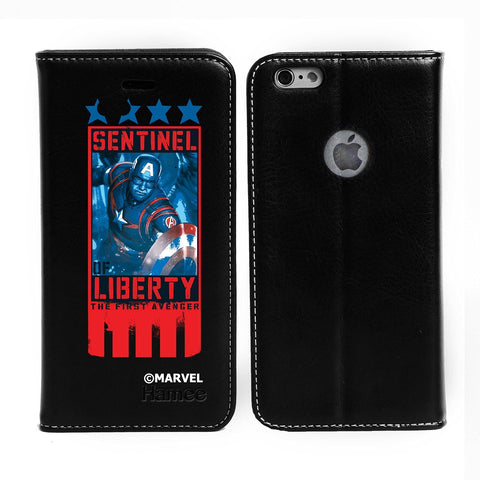 Sentinal Of Liberty Black Flip iPhone 6S/6 Case Cover