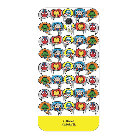 Superheroes Collage  Yellow Lenovo Zuk Z1 Case Cover