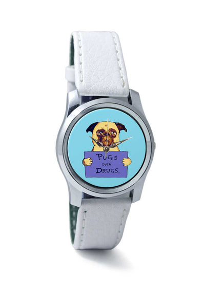 Women Wrist Watch India | pugs over drugs Wrist Watch Online India