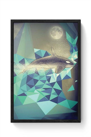 Flying Whale Framed Poster Online India
