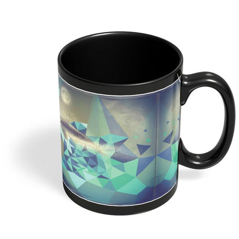 Flying Whale Black Coffee Mug Online India