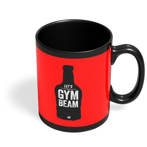 Lets Gym-Beam Black Coffee Mug Online India