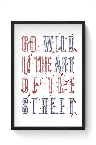 Street Art Typography Framed Poster Online India
