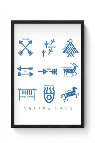 Native Land design Framed Poster Online India