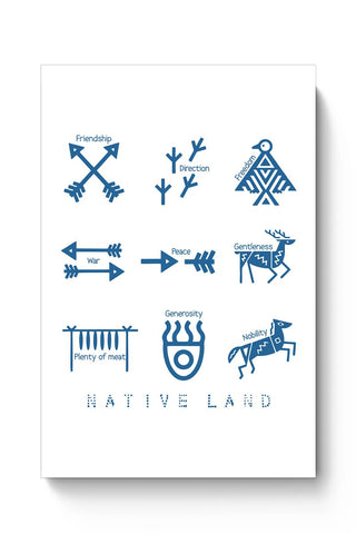 Native Land design Poster Online India