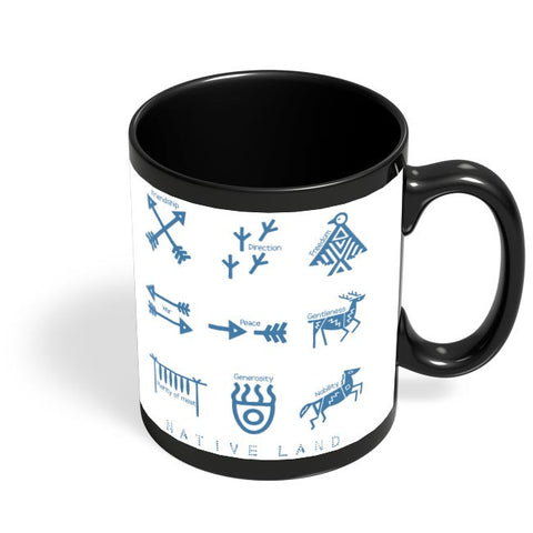 Native Land design Black Coffee Mug Online India