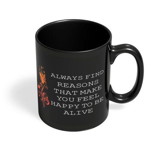 Find a Way Black Coffee Mug Online India