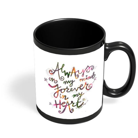 Always & Forever Black Coffee Mug Online India