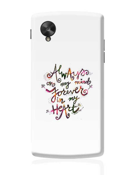 Always & Forever Google Nexus 5 Covers Cases Online India