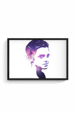 Buy Emma Watson Glass Framed Poster